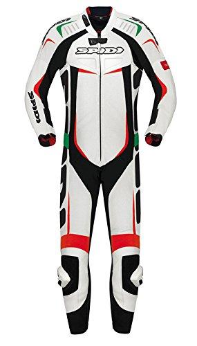 Spidi Motorrad Lederkombi Track Wind Pro Suit, Weiß, Größe 58