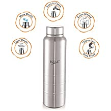 Sizzle New Design Unbreakable Stainless Steel Leak Proof Fridge Water Bottle, 1 Pc, 1000 Ml, Silver