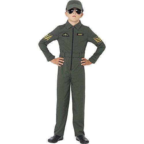 Imagen de smiffy's  disfraz de aviador para niños, color caqui 41091s