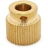 Ogquaton Impresora 3D Engranaje impulsor Engranaje de filamento Extrusora Engranaje impulsor 40 dientes de cobre 5 mm Eje Cobre Accesorios para impresoras Oro 1 pieza