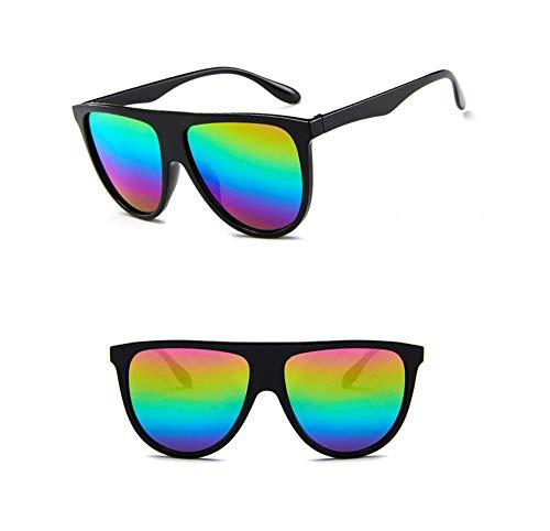 quadratische Sonnenbrille Frauen Big One Lens Mans schwarz Sonnenbrille weiblich Uv400 ()