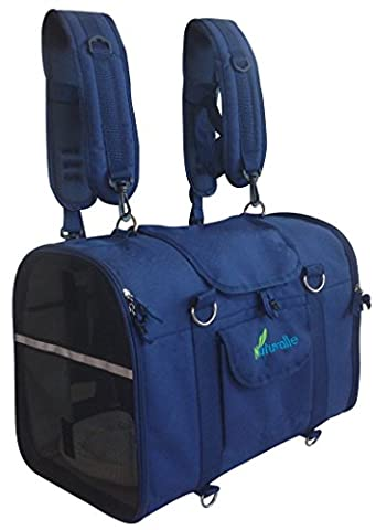 6-in-1 STURDY Airline Approved Pet Carrier Backpack, Front Pack, Shoulder Bag, Dog Carriers, Cat Carriers, Dog Soft-Sided Carriers, Small Animal Carriers, Pet Travel Carrier, Car Seat Crate, Dog purse