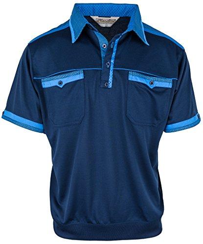 Polohemd Poloshirt für Herren von SOUNON, verschiedene Farben - Größe M bis 5XL Dunkelblau (M6)