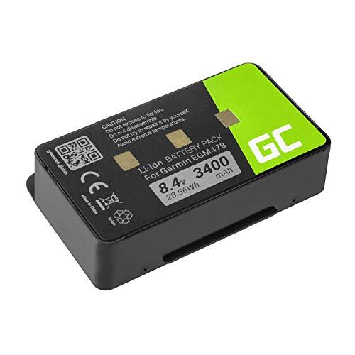 Green Cell® 010-10517-00 011-00955-00 Akku für GPS Garmin GPSMAP 276 296 376 376c 396 495 496 (Li-Ion Zellen 3400mAh 8.4V Schwarz) 376c Gps
