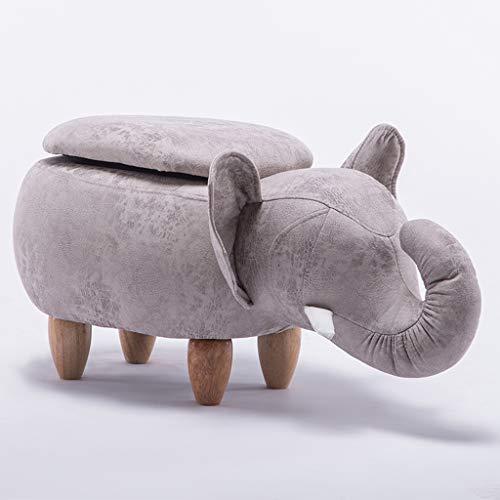 CKH Elephant Roll Nase Hall Change Schuh Hocker Creative Sofa Hocker Low Hocker Cartoon Test Schuhe Hocker Storage Hocker Weiß