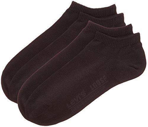 Levi's Herren Sneakersocken 168SF LOW CUT 2P, 2er Pack, Jet Black, 39/42 (Herstellergröße: 39/42) - Low Cut-2 Pack-socken