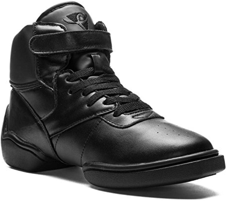1500 Rumpf Dancesneaker Jazz Street Hip-Hop Fitness Deporte Baile High Top Sneaker zapatilla baile caña alta cuero  -