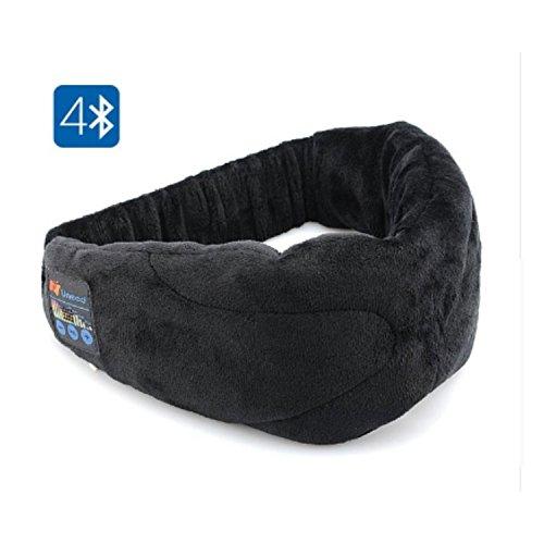HanGang Bluetooth Eye Maske, Augenmaske Wireless waschbar Schlaf Eye Shades mit Stereo-Lautsprecher Musik Headset Ohrhörer und Mikrofon für Reisen schlafen Zuhause und Meditation
