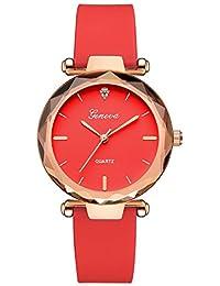 OHQ Reloj Fashion Womens Ladies Watches Geneva Silica Band Reloj De Pulsera De Cuarzo AnalóGico Pulsera Reloj Inteligente Marcar El Reloj Reloj ElectróNico