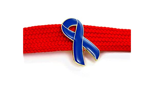 Blue Awareness Ribbon Pin Badge For Prostate Colon Colorectal Cancer By Butler And Grace Amazon Co Uk Handmade