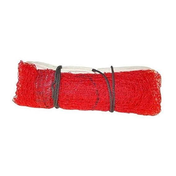 RV Badminton Net 4 Side Nylon, Niwar and Tetron Tape (Red)