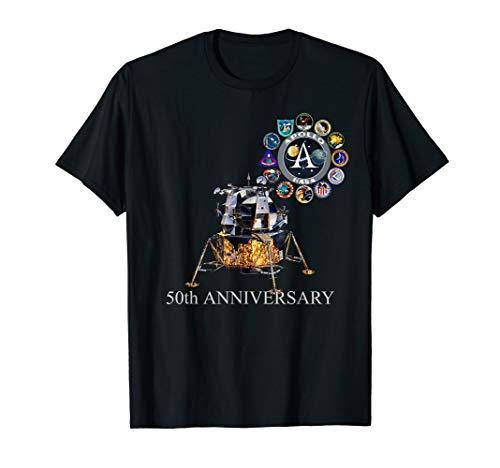Apollo Mission Abzeichen 50. Mondlandung Jubiläum Lander T-Shirt - Mission 50
