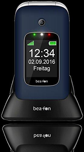 Image of Beafon SL580_EU001BL Mobiltelefon (Innendisplay 240 x 320 Pixel, 4,49 cm (1,77 Zoll Aussendisplay 128 x 160 Pixel, VGA Kamera, SOS-Notruftaste, 6,09 cm (2,4 Zoll blau/silber
