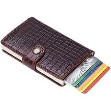 Secrid Cardprotector Amazonas - Cartera de piel con tarjetero (protector de tarjetas con identificación por radiofrecuencia), color marrón