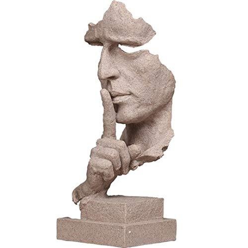 ZhongYi Skulptur, Abstrakte Kunst Gesichtsmaske Dekoration, kreative Minimalistische Dekoration Büro Studie Crafts Decoratio