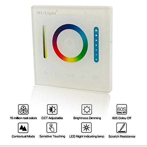 MILIGHT Smart Panel LED Controller DC12–24V RGB RGBW RGB + CCT LED Touch Schalter Panel Controller LED Dimmer für LED-Strip-Licht