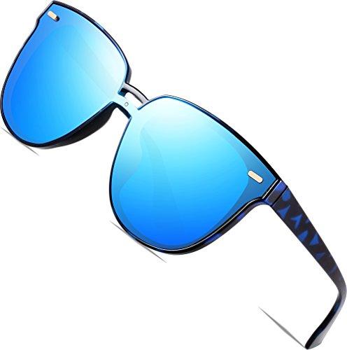 SIPLION Damen Wayfarer Sonnenbrille UV400 Schutz Polarisierte D177 Blue