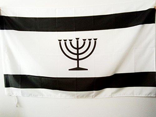 AZ FLAG Flagge JIDDISCH 150x90cm - JÜDISCH-DEUTSCH Fahne 90 x 150 cm Scheide für Mast - flaggen Top Qualität