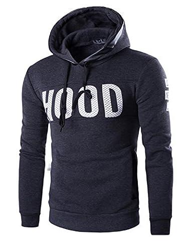 Boom Fashion Mode Homme Sweat à capuche épaissir Manteaux Vestes Impression Casual Sweat-shirt Hoodie