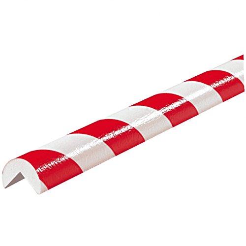 Preisvergleich Produktbild Eckschutzprofil Schutzprofil Kantenschutz Stoßschutz Knuffi Typ A 1 Meter,  Größe:1 Meter - rot / weiß