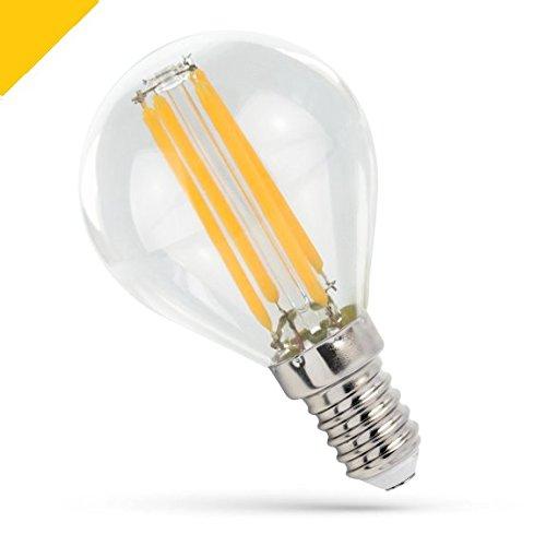Spectrum Klar Bad (Spectrum LED Cog Premium Klar E144W LED Golf Ball 500Lumen (41W ähnlich) Warm Weiß (2700-3200K) breit Abstrahlwinkel (300Grad) nicht dimmbar, energiesparend A + +)