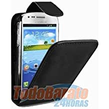 Funda piel negra Samsung Galaxy core i8260