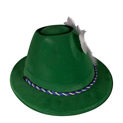 Oktoberfest grün Velours Alpin Kostüm Mütze für Damen & Herren