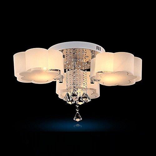SSLW Deckenleuchte LED Moderne Kristall Licht Bunte einfache Schlafzimmer Lichter Restaurant Lichter Wolken, White Light, 3 Heads -