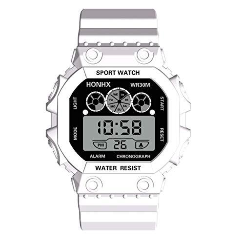 SHINEHUA Freizeituhr Kinder Armbanduhr Jungen Mädchen Uhren Digital LED Alarm Analog Wasserdicht Sports Uhren Multifunktions Quarz Sportuhren Kinder universal Silikon Lernuhr