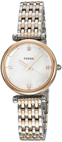 Fossil Carlie Analog White Dial Women's Watch - ES4431