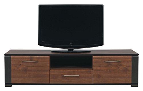 furniture24_eu TV Schrank Lowboard Unterschrank Naomi (Nußbaum/Wenge)