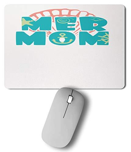 generisch Mer Mom - Meerjungmama - Muschel, Seestern und Anker - Mousepad -27cm x ()