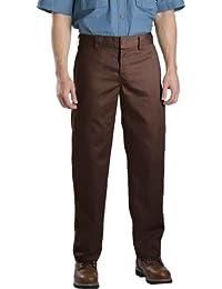 Dickies - - WP873 Slim Straight Work Pant, 40W x 30L, Chocolate Brown