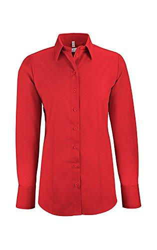 Greiff Damen-Bluse BASIC, Regular Fit, Stretch, easy-care, 6515, mehrere Farben Rot