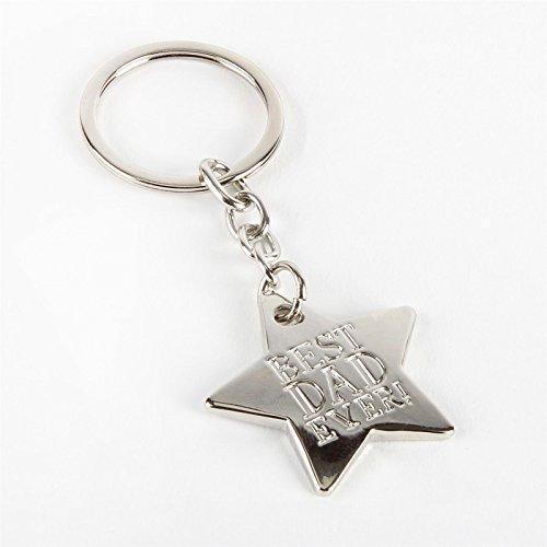 Porte-clés en métal avec l'inscription « Best dad ever » (français non garanti)