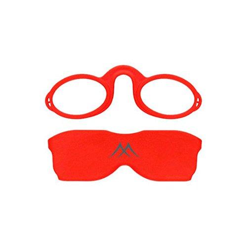 Gafas de lectura Montana NR1 sin patillas - Color: Rojo - Graduación: +3.5
