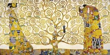 Leinwandbild Gustav Klimt - Lebensbaum - 120 x 60cm - Premiumqualität - Klassische Moderne,...
