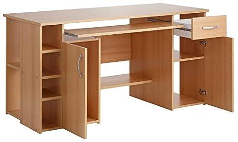 4-4-3-424: made in BRD - PC-Tisch, Computertisch, Schreibtisch buche dek.