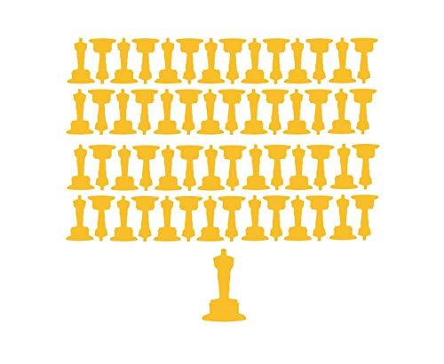 Beyyins Oscar Party-Dekorationen, 56 Mini-Oscar-Aufkleber, Oscar-Statue, Oscar-Einladung, Oscar-Uhr, Party-Aufkleber