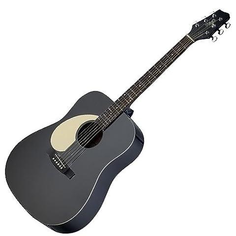 Stagg SA30D-BK LH Guitare acoustique Dreadnought Gaucher Noir