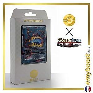 Engloutyran-GX (Guzzlord-GX) 105/111 Full Art - #myboost X Soleil & Lune 4 Invasion Carmin - Box de 10 Cartas Pokémon Francés