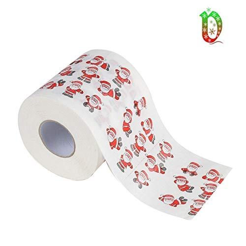 Yalatan Frohe Weihnachten Toilettenpapier Toilettenpapier Großhandel Santa Claus Print Party Tischdekoration 1 Paket (A9)