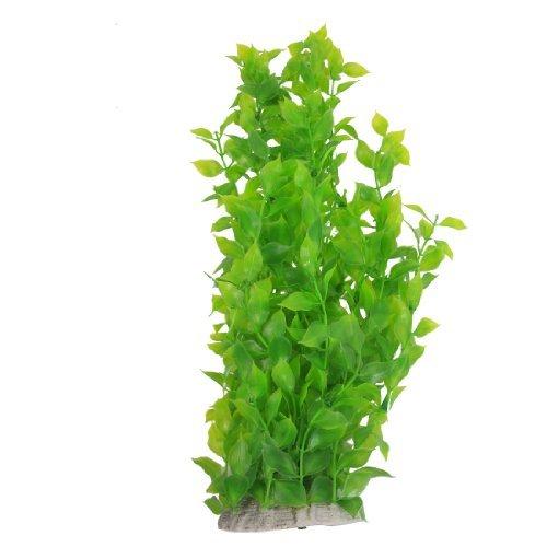 DAGNE Kunststoff Aquarium Blätter Wasser Pflanzen Dekoration, 40cm, grün