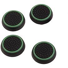 Xiton Thumbsticks Silicone Joystick Tappi di Copertura per PS3 / PS4 / Xbox One/Xbox 360 Wireless Controller 2 Pair/Nero e Verde