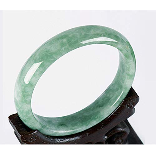 Weiduoli Jade Pulsera luz Verde Jade Pulsera Natural Jade Jade Turquesa Verde Flor de Jade Pulsera Dama Regalo