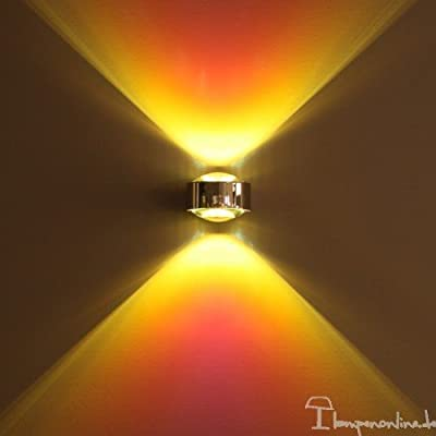 Top Light - Puk LED Maxx Wall Linse/Linse - Chrom matt, mit LED
