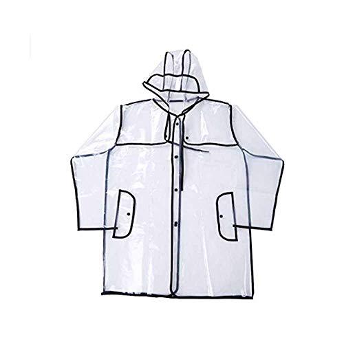CA&jun Transparenter wasserdichter Regen, feuchtigkeitsbeständige Kappe der Kleidungsmode-gestreiften Linie Mac für das Reisen im Freiencamping,XXL