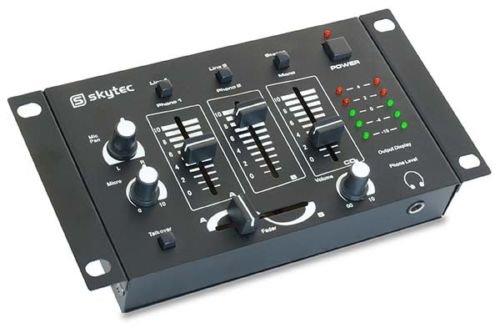 Preisvergleich Produktbild Mischpult DJ Mixer Stereo 4Kanäle 3Kanäle Mono 2Kanal Stereo + Micro