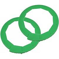 Silicone Pie Crust Shield, Adjustable Pie Protectors, Green by Cornucopia Brands