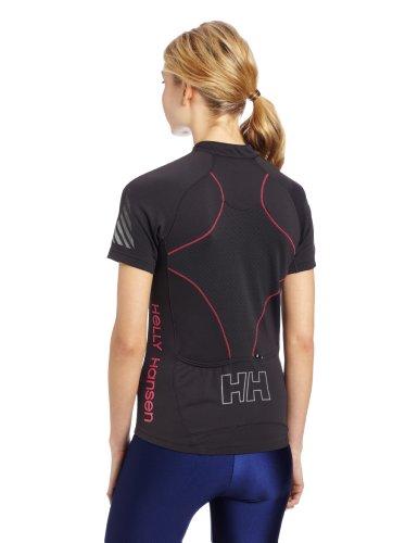 Helly Hansen Damen Pace 1/2Zip Bike Shirt Ebony/Magenta
